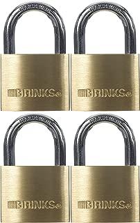 BRINKS 171-40401 40mm Solid Brass Keyed Lock (4-Pack), 4 Pack