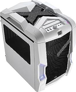 Aerocool STRIKEXCUBEWH - Caja gaming para PC (ATX, ventilador con iluminación LED frontal 20 cm y trasero 14 cm, 4 slots expansión,USB 3.0, audio HD,ventana transparente, control ventiladores), blanco
