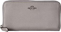 COACH - Accordion Zip Wallet in Polished Pebble Leather