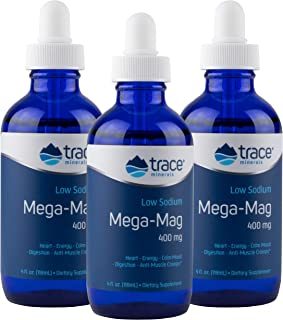 Trace Minerals Research LMM01 - Mega-Mag Liquid Magnesium, 4 Ounce (Pack of 3)