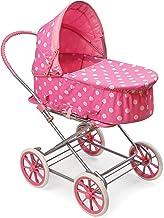 Best Badger Basket 3-in-1 Doll Pram, Carrier, and Stroller (fits American Girl Dolls), Pink/Dots Review