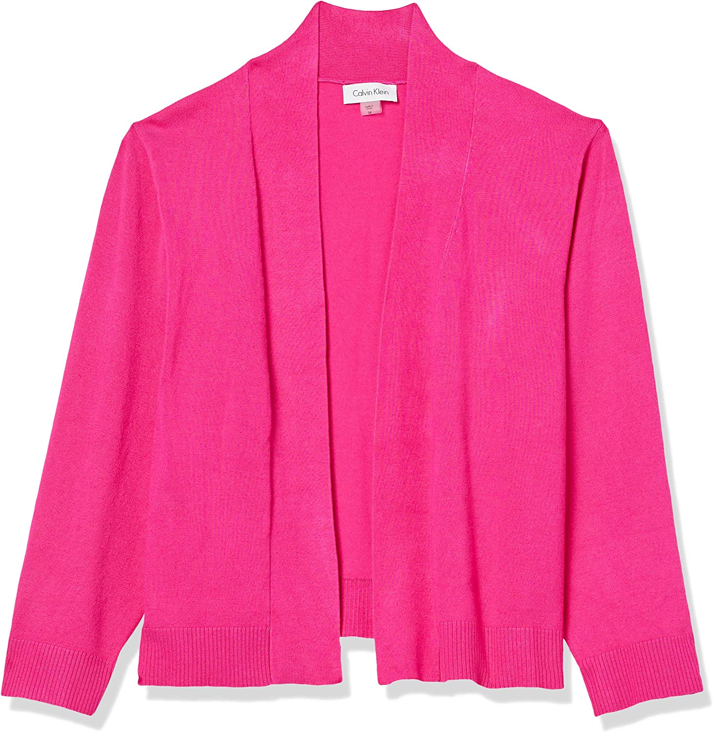 Calvin Klein Women's Plus Size Shrug Sale special price low-pricing Knit Sleeve ¾