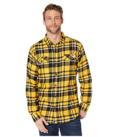 Columbia College Iowa Hawkeyes Collegiate Flare Guntm Flannel Long Sleeve Shirt (MLB Gold Plaid) Men