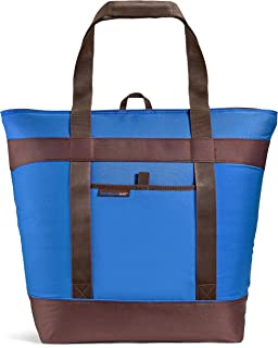 Rachael Ray Jumbo ChillOut Thermal Tote Bag for Grocery Shopping, Transport Cold or Hot Food, Extra-Large  Capacity, Insulated, Reusable, Blue