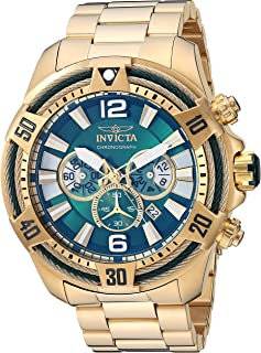 Men's Bolt Quartz Watch with Stainless Steel Strap, Gold, 26 (Model: 27267)
