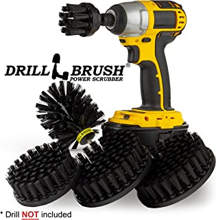 BBQ Accessories - Grill Brush - Grill Tools - Ultra Stiff Drill Brush Attachment Kit - Grill Scraper - Wire Brush Alternative - Grill Cleaner - Rust Remover - BBQ Brush - Graffiti Remover - BBQ Tools