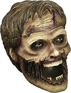 Evil Undead Zombie Head Ashtray Statue with Cover for Spooky Graveyard Halloween Party Decorations and Decorative Medieval & Gothic Decor Sculptures As Whimsical Novelty Gifts by Home-n-Gifts