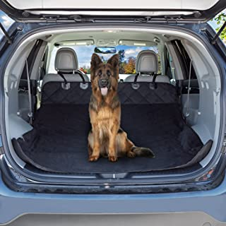 Cargo Liner Dog Seat Cover- Quilted Waterproof All Weather Non-Slip Trunk Pet Travel Mat with Bumper Flap Protector for SU...