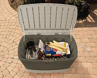 Rubbermaid Medium Resin Weather Resistant Outdoor Garden Storage Deck Box, Sandstone & Master Lock 178D Set Your Own Comb