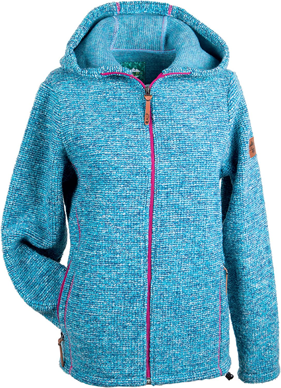 Alp by Brush Ladies Jacket WoolMix with Hood Contrasting Seams