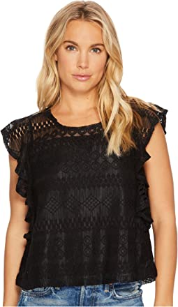 Jack by BB Dakota - Dori Stripe-Pattern Lace Top