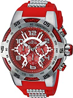 Invicta Men's Speedway Stainless Steel Quartz Watch with Silicone Strap, Two Tone, 30 (Model: 24230