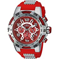 Invicta Men's Speedway Stainless Steel Quartz Watch with Silicone Strap, Two Tone, 30 (Model: 24230)
