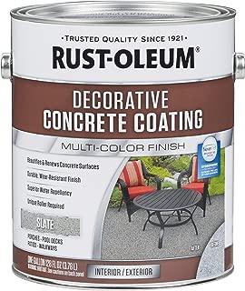 Rust-Oleum 301304 Decorative Concrete Coating, Slate