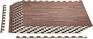 AmazonBasics Wood Print Puzzle Mat, Ash