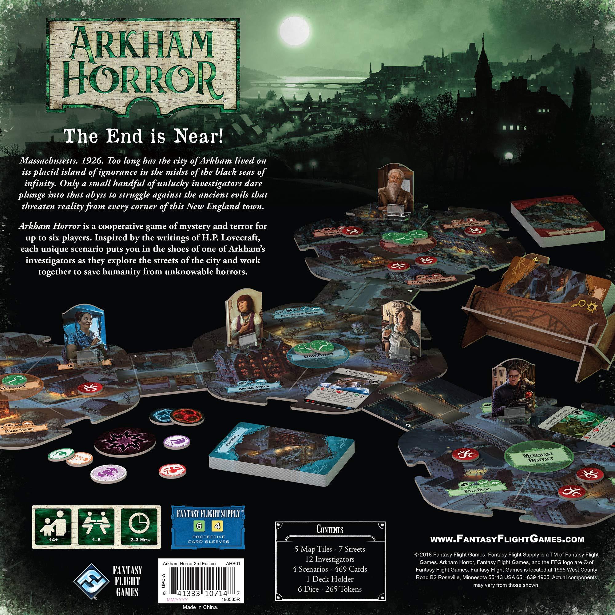Fantasy Flight Games FFGAHB01 Arkham Horror tercera edición, colores surtidos, Inglés: Amazon.es: Juguetes y juegos