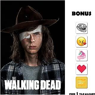 Movie Poster The Walking Dead Season 8 Poster - Carl - 13 in x 19 in Flyer Borderless + Free 1 Tile Magnet