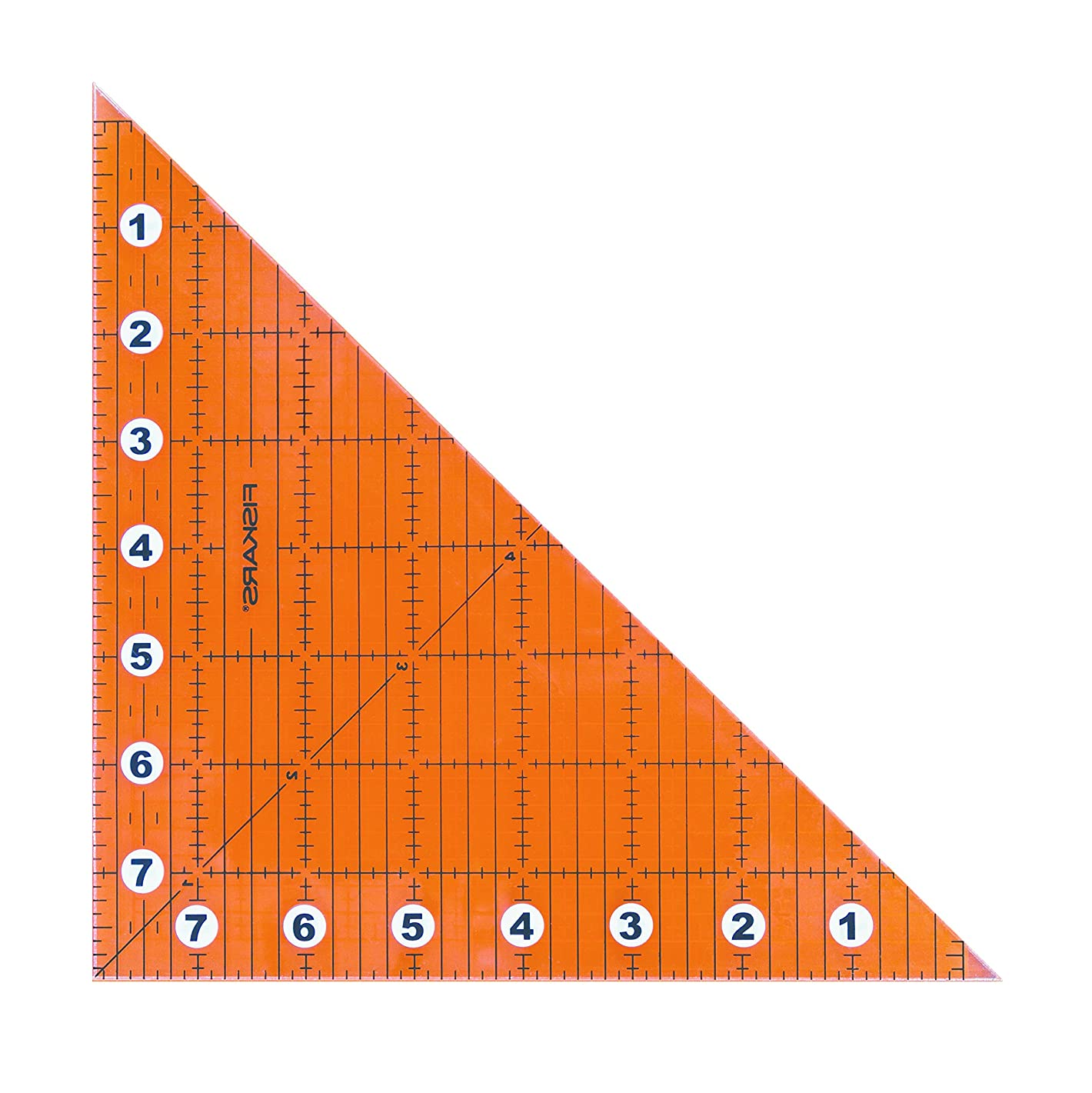 Fiskars Ruler Acrylic Folding Square, Clear, 8 x 8-Inch