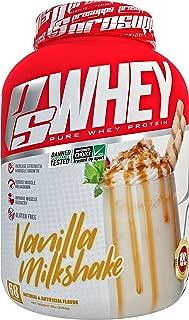 Pro Supps Whey Vanilla Milkshake 5 Pounds, White, 5 Pound