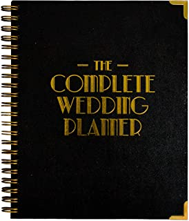 $27 » Wedding Planner & Organizer – Black and Gold Edition, 1920's Inspired - Diary Engagement Gift Book & Countdown Calendar – ...