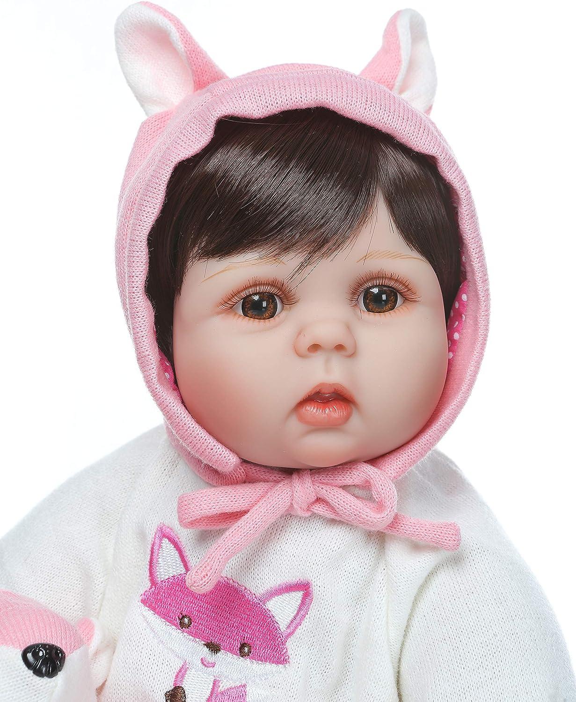 ZIYIUI 22 Pollici Reborn Bambino Bambola Vinile siliconico Realistica Magnetica Bocca Giocattolo Ragazza Bambole Reborn 55 cm