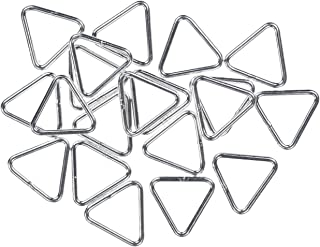 uGems 24 Sterling Silver Triangle Jump Rings 20ga 7mm Closed Ring