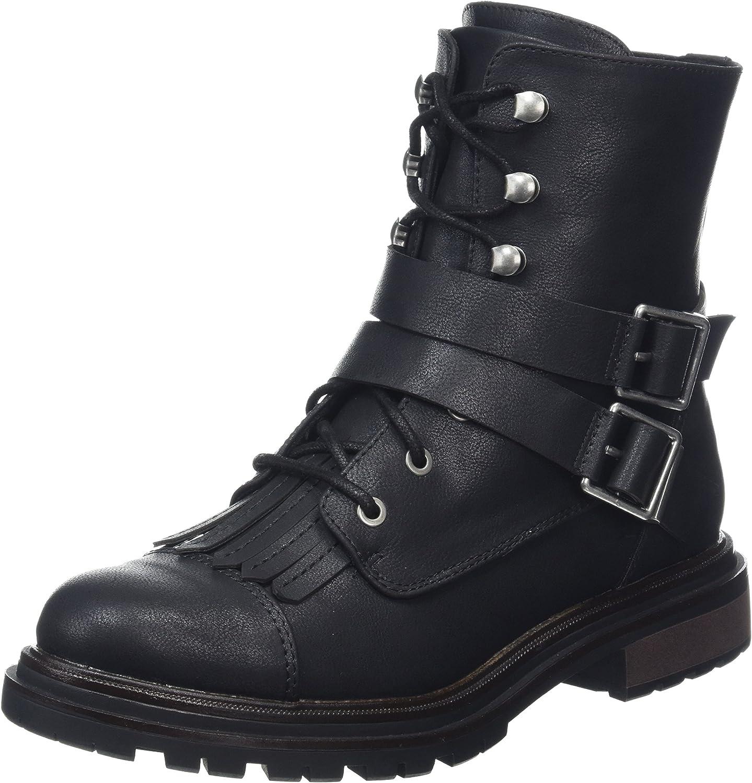 Rocket Dog Women's Lacie Black Combat Boot - Black