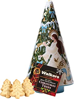 Walkers Shortbread Christmas Tree Angel Cookie Tin, 4.4 Ounce