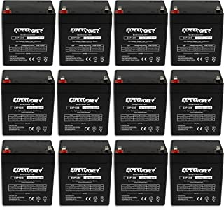 (12 Pack) ExpertPower 12V 5Ah Home Alarm Battery With F1 Terminals    EXP1250