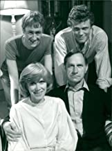 Vintage photo of Nicholas Lynthurst, Andrew Hall, Wendy Craig and Geoffrey Palmer in Butterflies.