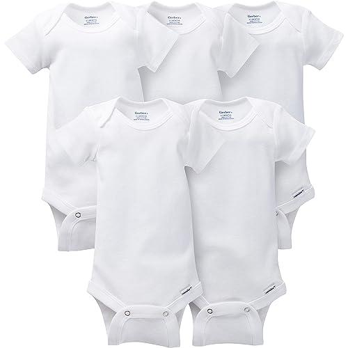 ab0778f11 Gerber Baby 5-Pack Solid Onesies Bodysuits