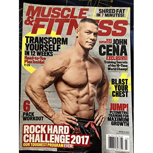 320bcb84e6b MUSCLE   FITNESS Magazine March 2017 JOHN CENA Training Secrets