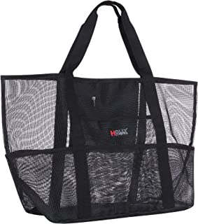 Holly LifePro Waterproof Mesh Beach Bag Toy Tote Bag LargeLightweight Market Grocery & Picnic Tote with Oversized PocketsI...