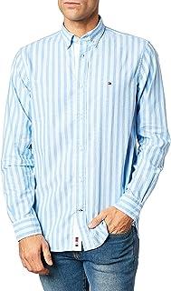 Tommy Hilfiger Cotton Linen Multi Stripe Shirt Camisa para Hombre