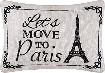 C&F Home to Paris Needlepoint Pillow 6 x 9 Multi