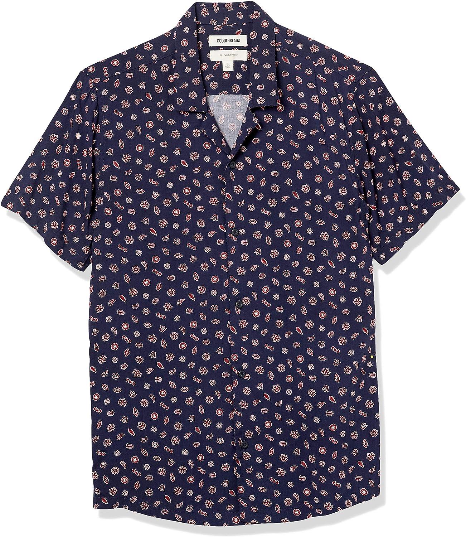 Goodthreads Men's Slim-Fit Short-Sleeve Camp Collar Hawaiian Shirt