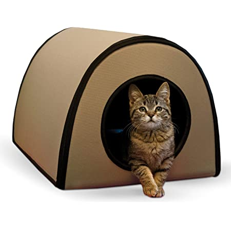 K&H Pet Products Mod Thermo-Kitty Heated Shelter Great for Outdoor Cats
