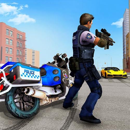 Polícia dos EUA moto moto perseguição gangster real