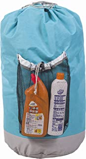 Amelitory Large Backpack Laundry Bag with a Strong Shoulder Strap Storage Bag Drawstring Closure Lake Blue