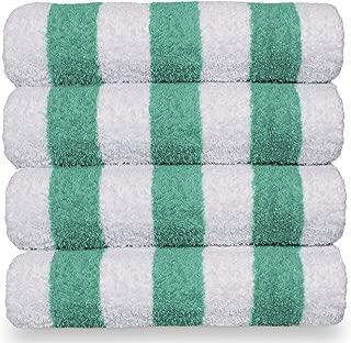 green striped towels