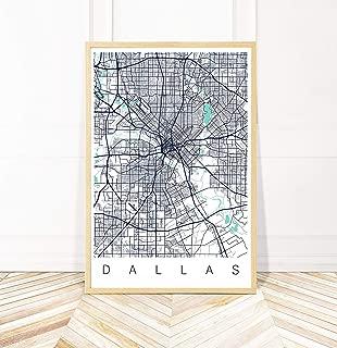 Dallas Map Art Print - Map of Dallas Texas - Series II