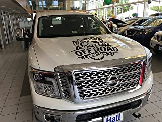 Nissan Titan Nismo, Hood Black Decal Vinyl Sticker, Angry Lion Logo Custom auto Graphics for trucks factory design