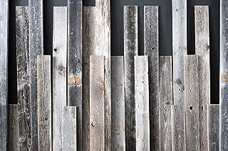 salvaged wood headboard