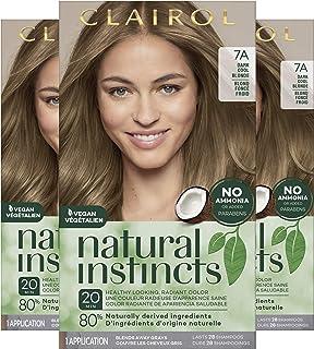 Clairol Natural Instincts Semi-Permanent, 7A Dark Cool Blonde, Sandalwood, 3 Count