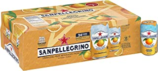 Sanpellegrino Orange Sparkling Fruit Beverage, 11.15 fl oz. Cans (24 Count)