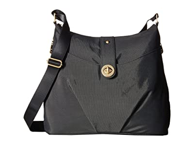 Baggallini International Gold Helsinki Bag (Charcoal) Handbags