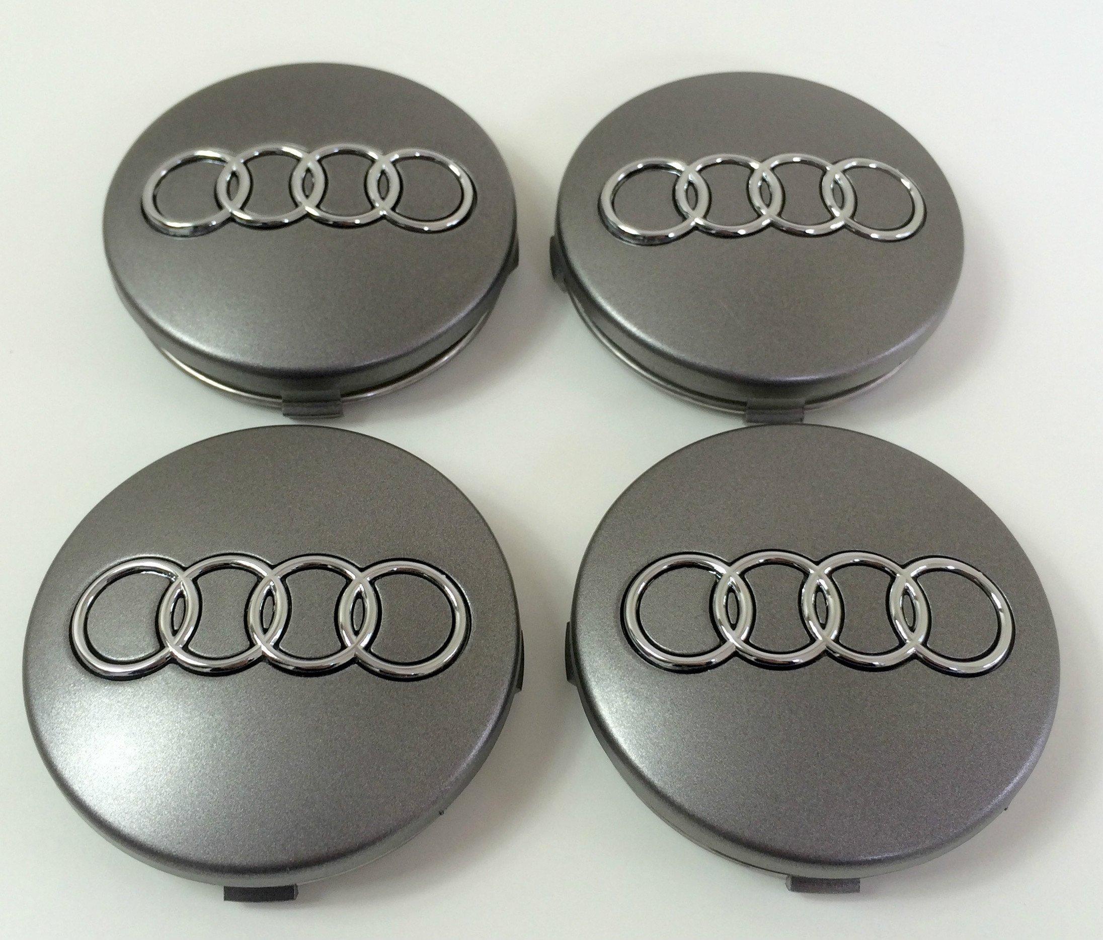 Juego de cuatro tapacubos de aleación grises, 60 mm, 4B0 601 170, para Audi A3, A4,