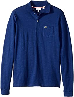 Lacoste Kids - Long Sleeve Jaspe Polo with Pocket (Infant/Toddler/Little Kids/Big Kids)
