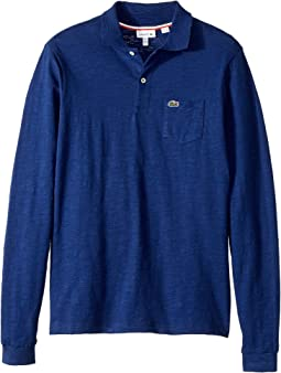 Long Sleeve Jaspe Polo with Pocket (Infant/Toddler/Little Kids/Big Kids)