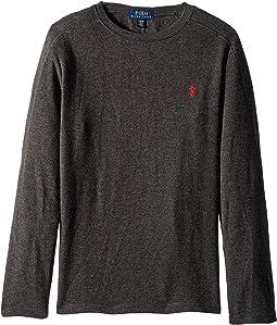 Polo Ralph Lauren Kids - Waffle-Knit Cotton T-Shirt (Big Kids)